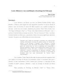 Louis Althusser e sua contribuição à Sociologia da Educação