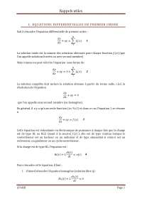 résolution des équations différentielles du premier ordre (rencontrées en Electronique de Puissance)