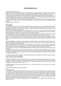 METODOLOGIA NEGLI STUDI FARMACOLOGICI