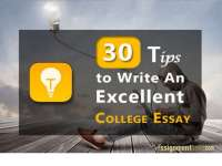 30 tips to write an excellent college essay