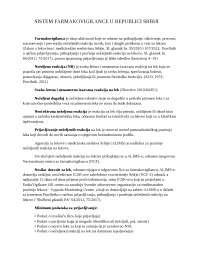 SISTEM FARMAKOVIGILANCE U REPUBLICI SRBIJI