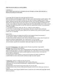 CAPITOLO 1 DALLA PSICOANALISI ALLE NEUROSCIENZE:TEORIE, AUTORI, METODI DELLA PSICOLOGIA DELLO SVILUPPO