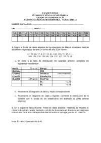 Examen introducción  a la estadística 2016