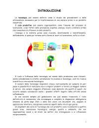 Appunti di tecnologia dei cicli produttivi