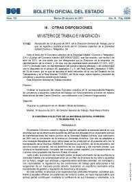 Resolución 10 de junio de 2011: publicación texto de III Convenio Colectivo de la sociedad estatal correos y telégrafos