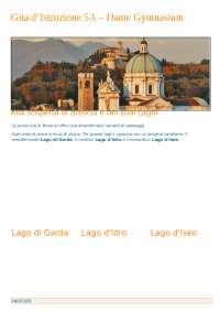 Itinerario su Brescia e i suoi laghi