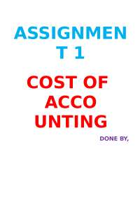 cost accounting and about limitations and advantages