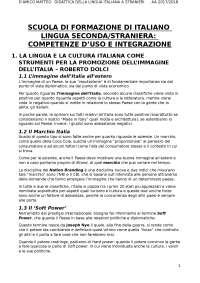Scuola di formazione italiano L2, Lamarra,Diadori