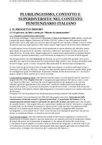 Plurilinguismo, contatto e superdiversità nel contesto penitenziario, Benucci