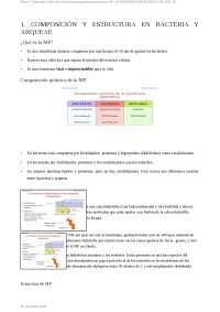 Tema 2: Estructura y función de los microorganismos procariotas (II): LA MEMBRANA