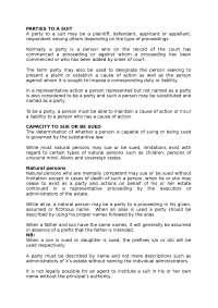 parties to pleadings in civil law