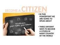 Presentazione di diritto sulle modalità per ottenere la cittadinanza nel mondo