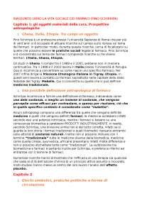RIASSUNTO LA VITA SOCIALE DEI FARMACI- PINO SCHIRRIPA
