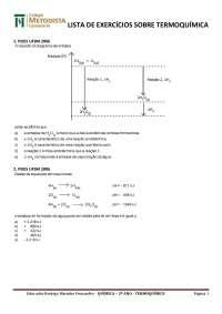 lista termoquímica para ensino médio