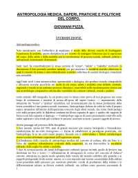 ANTROPOLOGIA MEDICA SAPERI  PRATICHE E POLITICHE DEL CORPO G Pizza