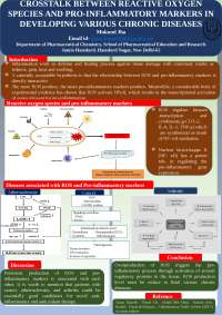 poster on reactive oxygen species and proinflammatory markers interaction