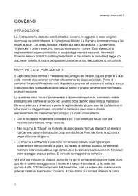 Governo italiano in Diritto Pubblico