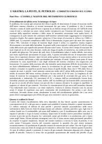 RIASSUNTO - L'Aratro, la Peste, il Petrolio - Ruddiman W.