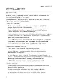 Lo Statuto Albertino e il Fascismo in Diritto Pubblico