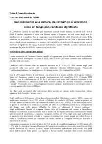 Tesina di Geografia culturale sul Cotonificio Cantoni