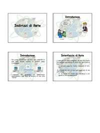 Spiegazione sugli indirizzi IP