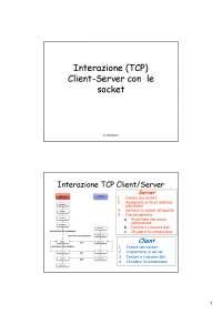 Interazione Client-Server con i socket (TCP)