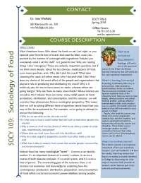 Sociology of Food Syllabus