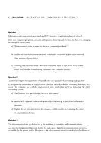 ICT Presentation questions
