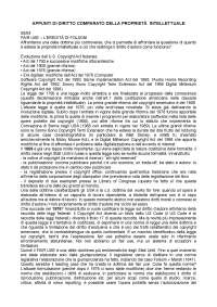 Diritto comparato della proprietà intellettuale (prof. Caso) a.a. 2017/2018