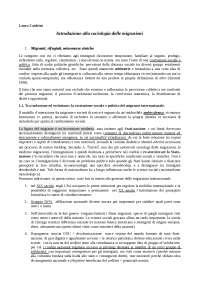 Sociologia dei Processi migratori - riassunto Zanfrini
