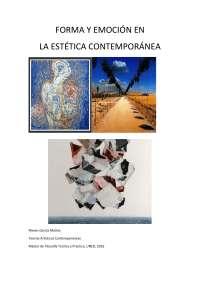 Estudio sobre la forma y la emoción en la estética
