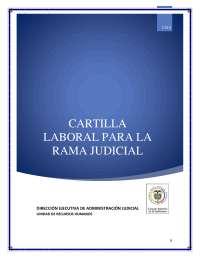 Cartilla laboral Rama Judicial