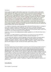 Tesina di psicologia clinica sulla compliance e sugli aspetti psicologici