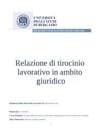 Relazione di Riconoscimento Lavorativo come Segretaria amministrativa in Studio Legale