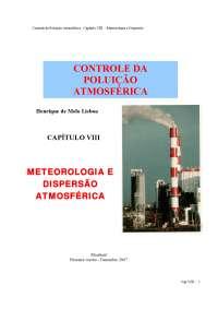 poluição atmosférica meteorologia dispersão