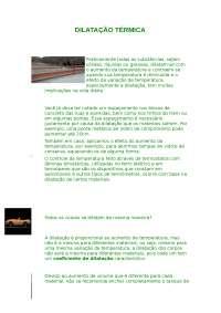 O que é Dilatação Térmica - Dilatação Térmica - Termologia