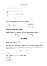 Noções sobre Radiciação - Radiciação - Álgebra