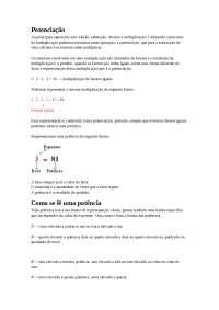 Noções sobre Potenciação - Potenciação - Álgebra