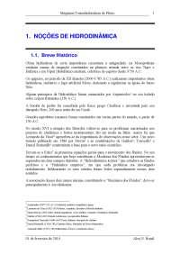 Introdução a Noções de Hidrodinâmica - Noções de Hidrodinâmica - Mecânica
