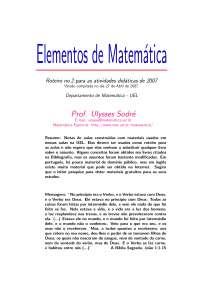 Sobre Elementos da Matemática 2 - Funções - Álgebra