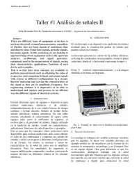 El osciloscopio , analisador de espectro y generador de señales explicado