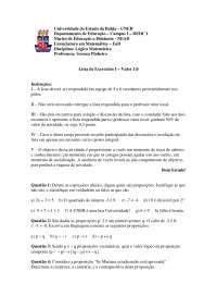 Aula sobre Lógica - Noções de Lógica - Álgebra