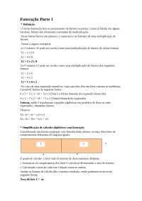 Sobre Fatoração - Fatoração - Álgebra