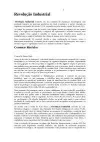 Noções sobre Revolução Industrial - Revolução Industrial - História Global