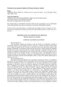 Noções sobre Memórias de um sargento de milícias, de Manuel Antonio de Almeida - Memórias de um sargento de milícias - Literatura