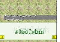 Apostila sobre Oracoes Coordenadas - Orações Coordenadas e Oração Intercalada - Gramática