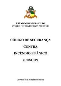 COSCIP/MA CÓDIGO DE SEGURANÇA CONTRA INCÊNDIO E PÂNICO DO MARNHÃO