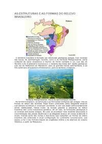 Relatório AS ESTRUTURAS E AS FORMAS DO RELEVO BRASILEIRO - Relevo - Geografia Brasil