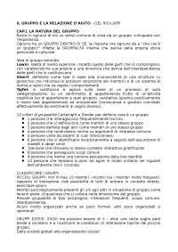 """Riassunto """"Gruppi e relazione d'aiuto"""", Del Rio; Luppi"""
