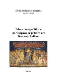 Educazione politica e partecipazione politica nel Duecento italiano